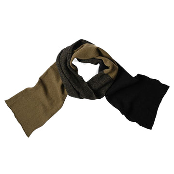 Blended Colour Scarf Geelong Olive / Black OS