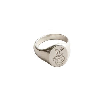 Ophidian Ring Sterling Silver 9