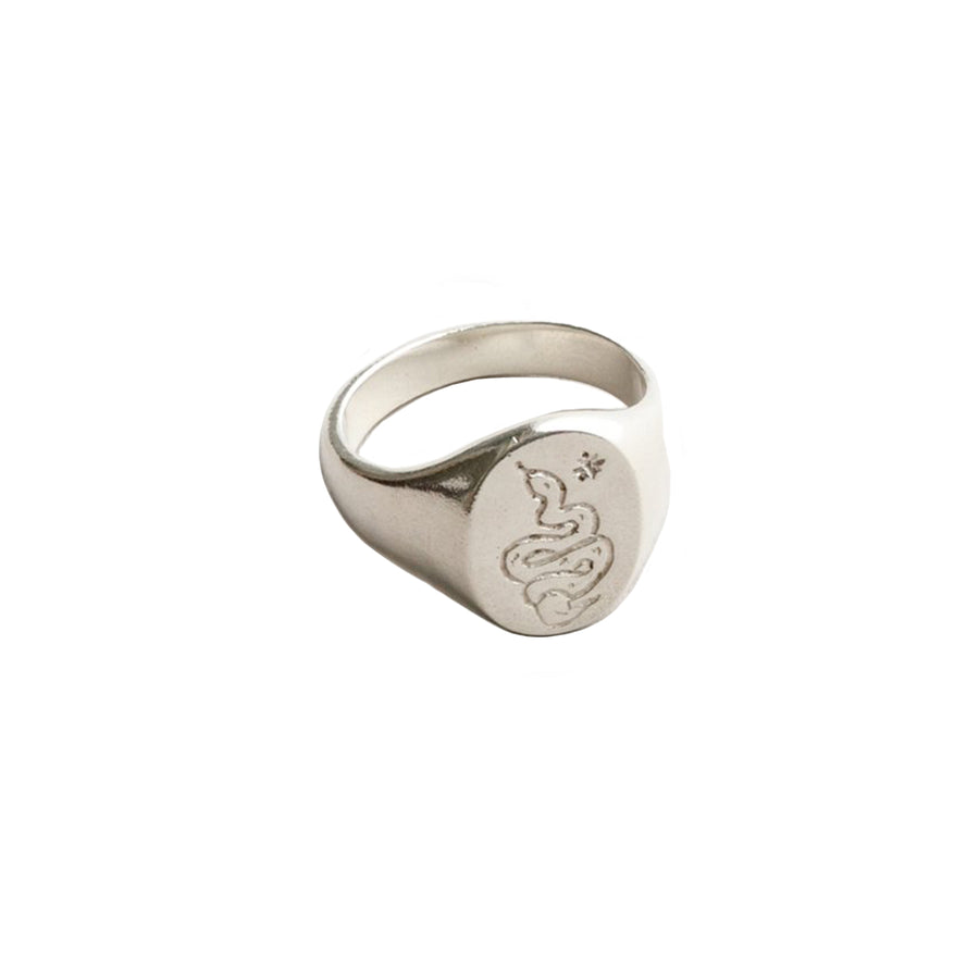 Ophidian Ring Sterling Silver 10