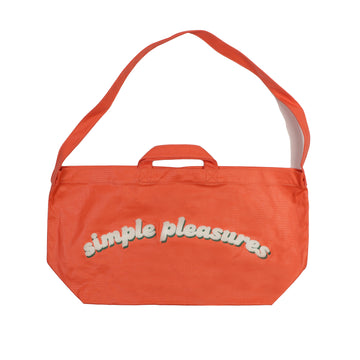 Newspaper Bag in Coated Canva Orange OS