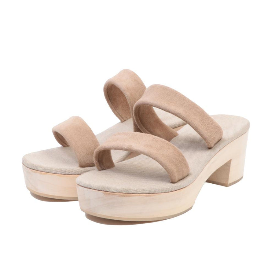 Romy Clogs Velours Sand