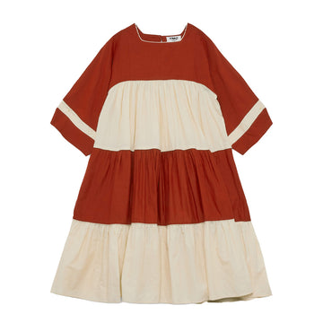 Petite Paloma Dress Red-Ecru