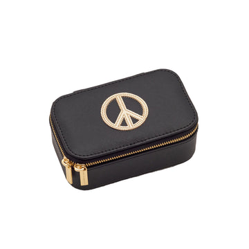 Mini Jewellery Box Peace black