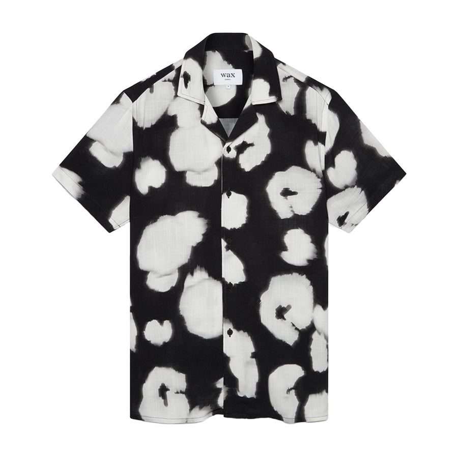 Didcot Poppy Short Sleeve Shirt Viscose Black