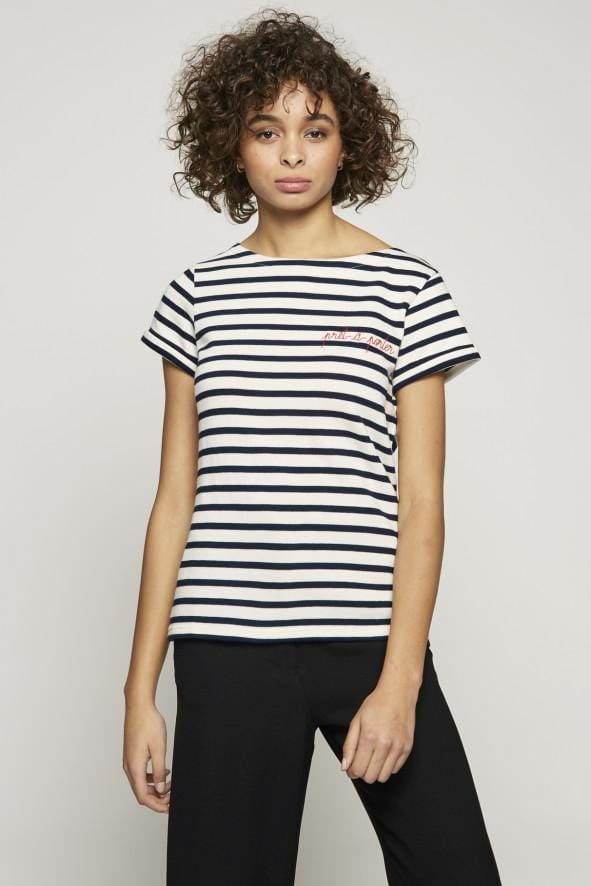 Sailor Shirt Ss Pret A Porter Ivory Navy (women)