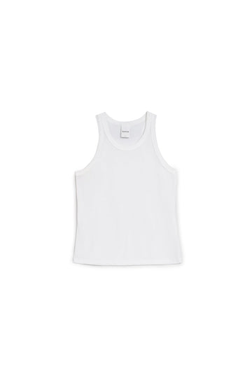 Racer Back Singlet White