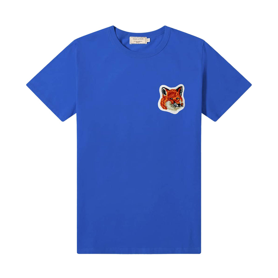 Tee-Shirt Velvet Fox Head Patch Classic Royal Blue (Unisex)