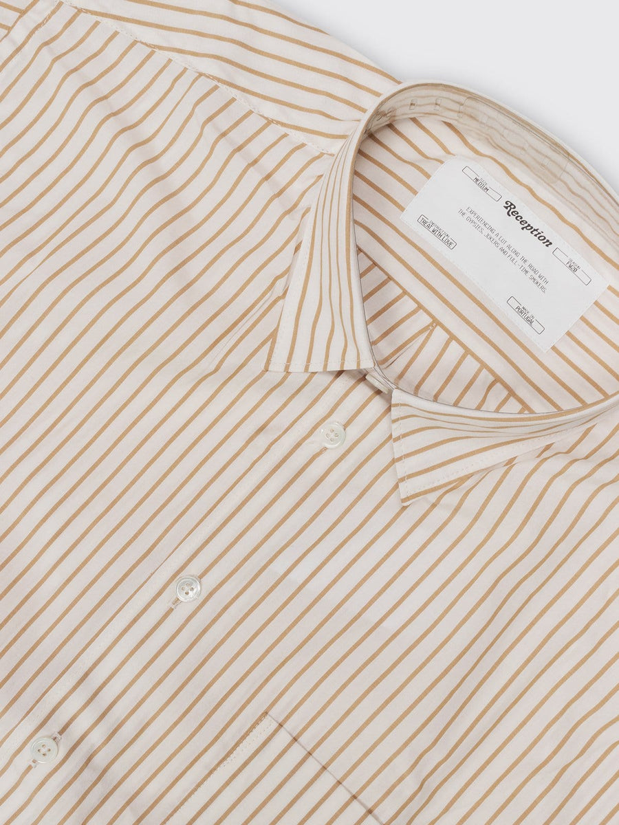 Shirt Loose Financial Poplin Camel