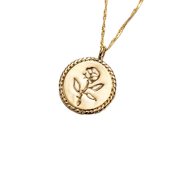 Rose Coin Pendant 20