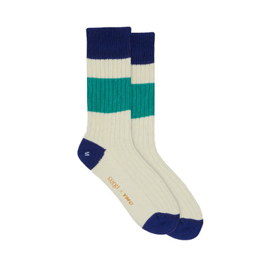 Sport Sock Ecru-Royal