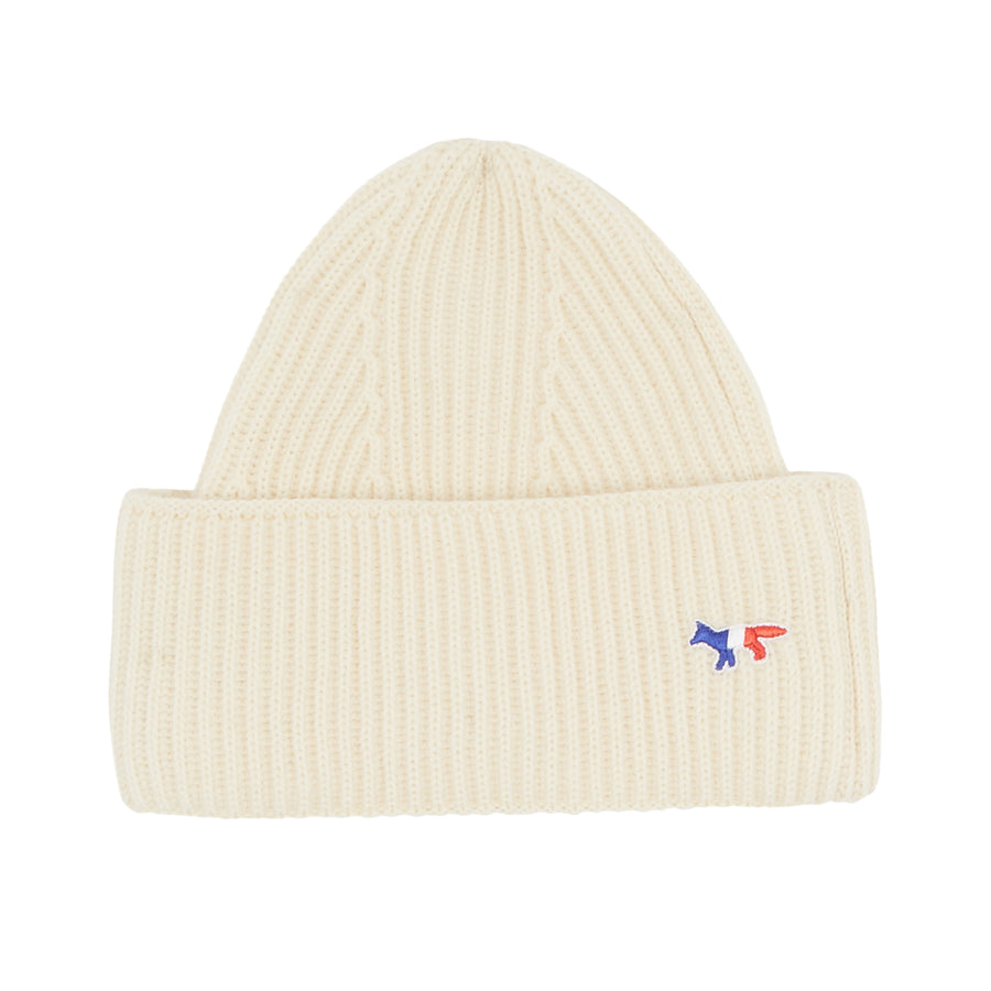 Ribbed Hat Tricolor Fox Patch Ecru U
