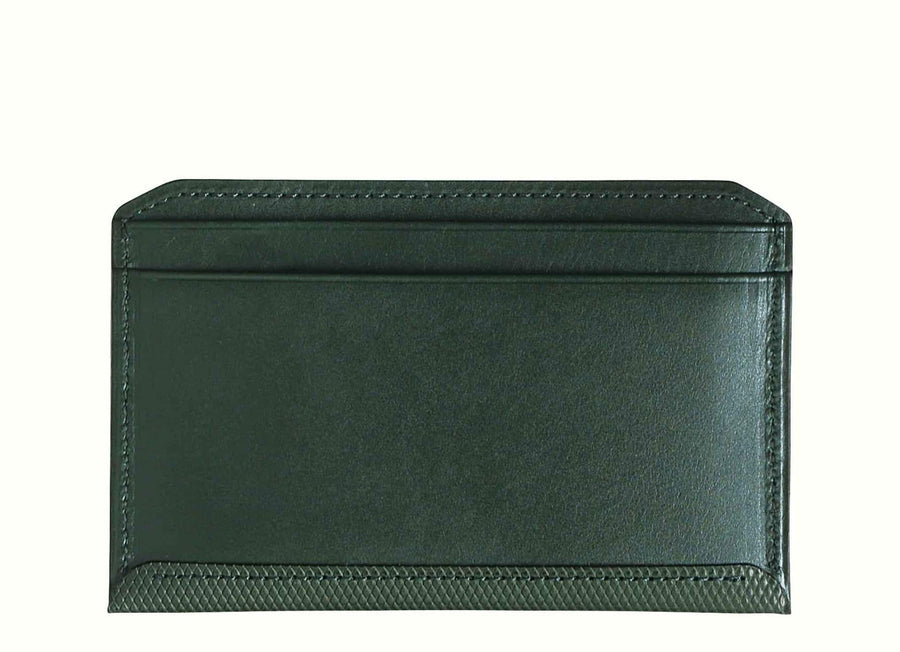 Crossgrain Leather Flat Wallet Emerald Green