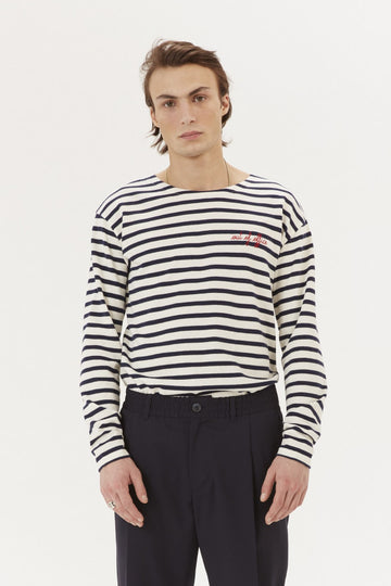 Sailor Tee LS Out of Office Ivory Navy