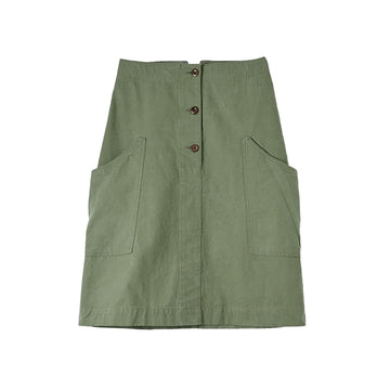 Cinch Back Skirt Compact Broken Drill Khaki
