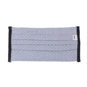 Mask Pregas Fabric Jacquard Small Squares Navy White OS