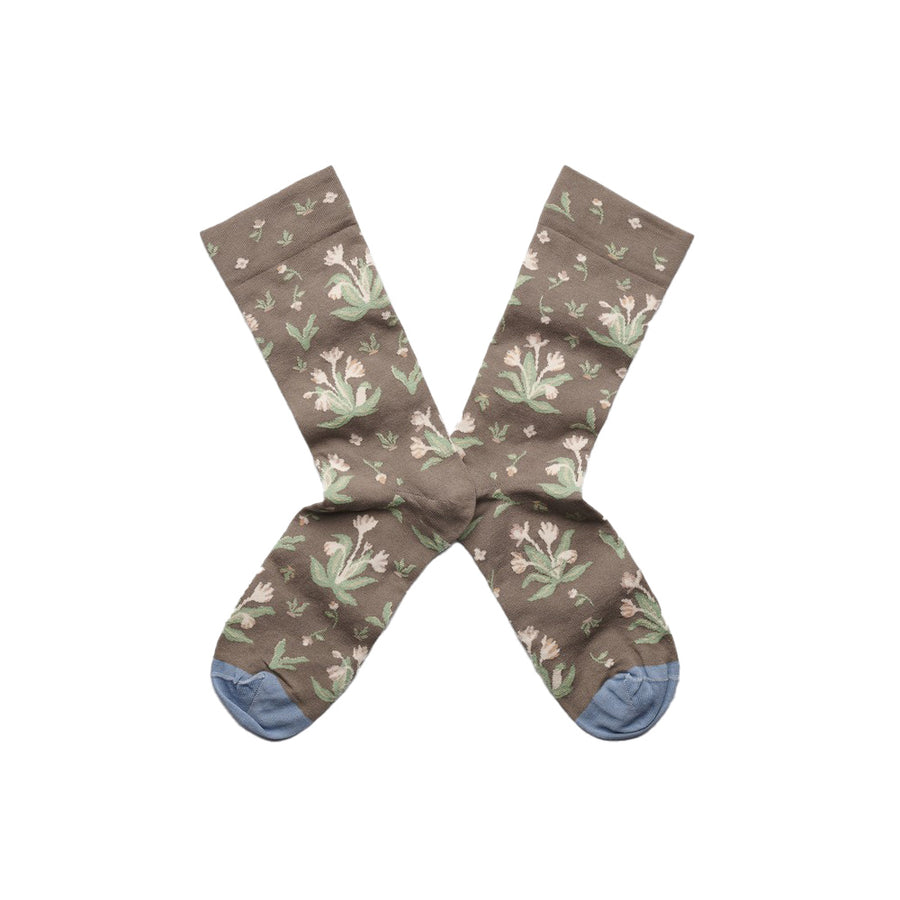 Socks La Princesse Taupe Bouquet