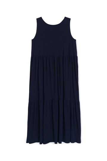 Tier Dress Navy