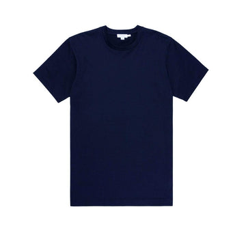 Short Sleeve Classic Crew Neck T-Shirt Navy