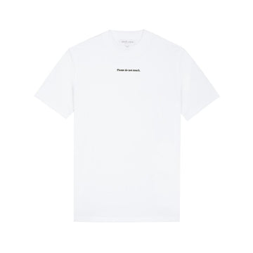 Boyfriend Tee-Shirt Please Do Not Touch White (women)