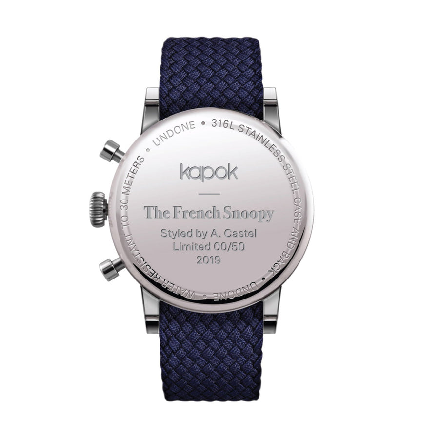 "UNDONE x PEANUTS  ""kapok French Snoopy"" watch"