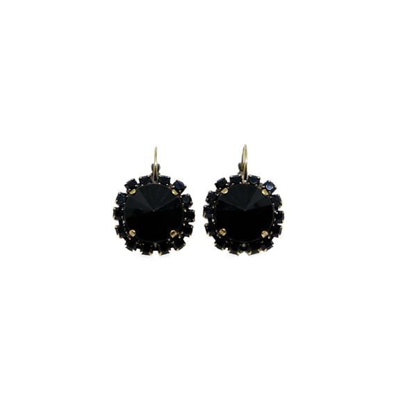 Earrings W/Strass And Resin C