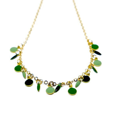 Choker With Multi Color Enamel F