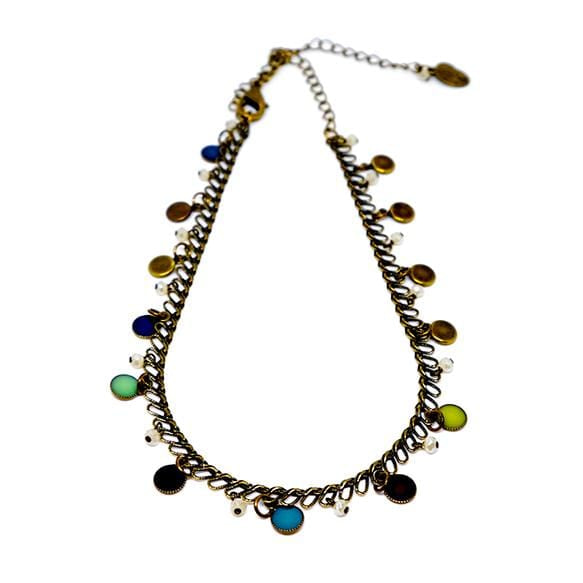 Choker With Vintage Enamel