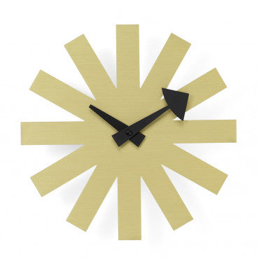 Asterisk Clock Brass, 250 mm