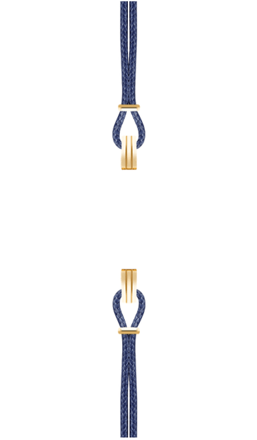 Gold Watch Strap Midnight Blue