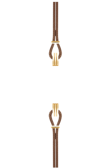 Gold Watch Strap Chocolate