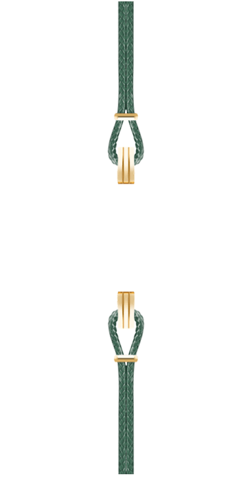 Gold Watch Strap Dark Green
