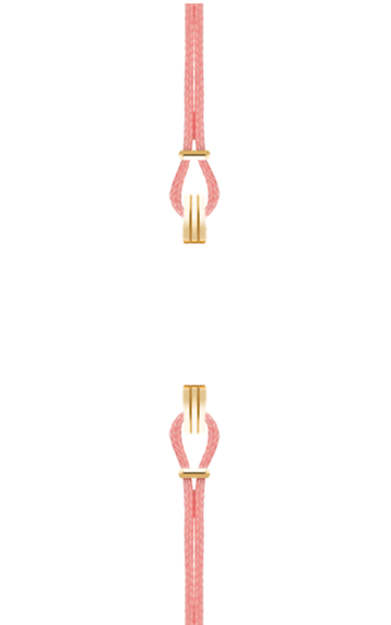 Gold Watch Strap Light Pink