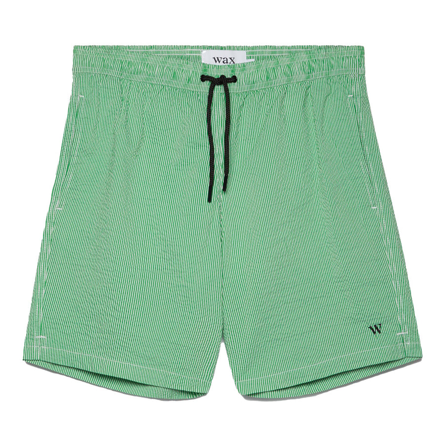 Noden Seersucker Swim Qlty Green Stripe