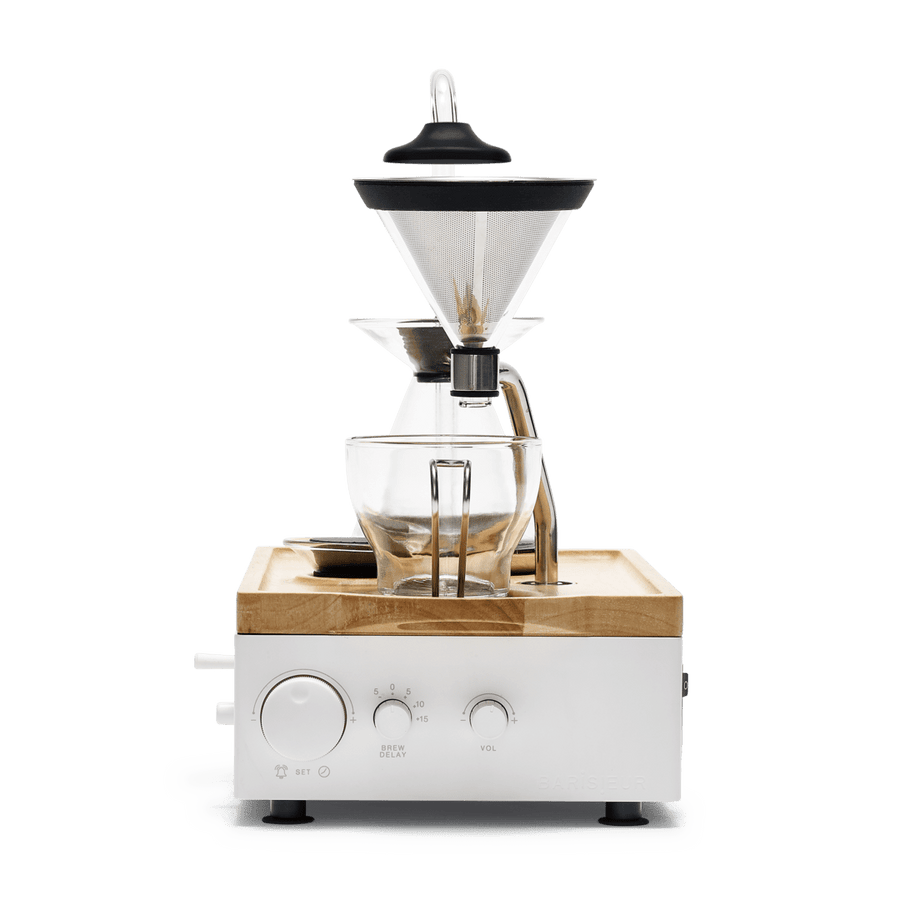 Coffee Alarm Clock White