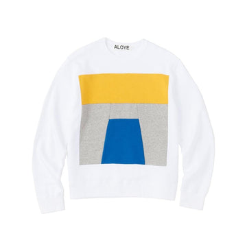 Color Blocks Sweatshirt White