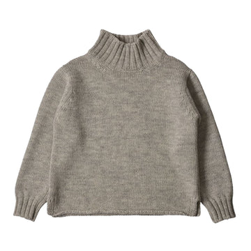Wide Neck Sweater British Wool / Ihs Limestone (Women)