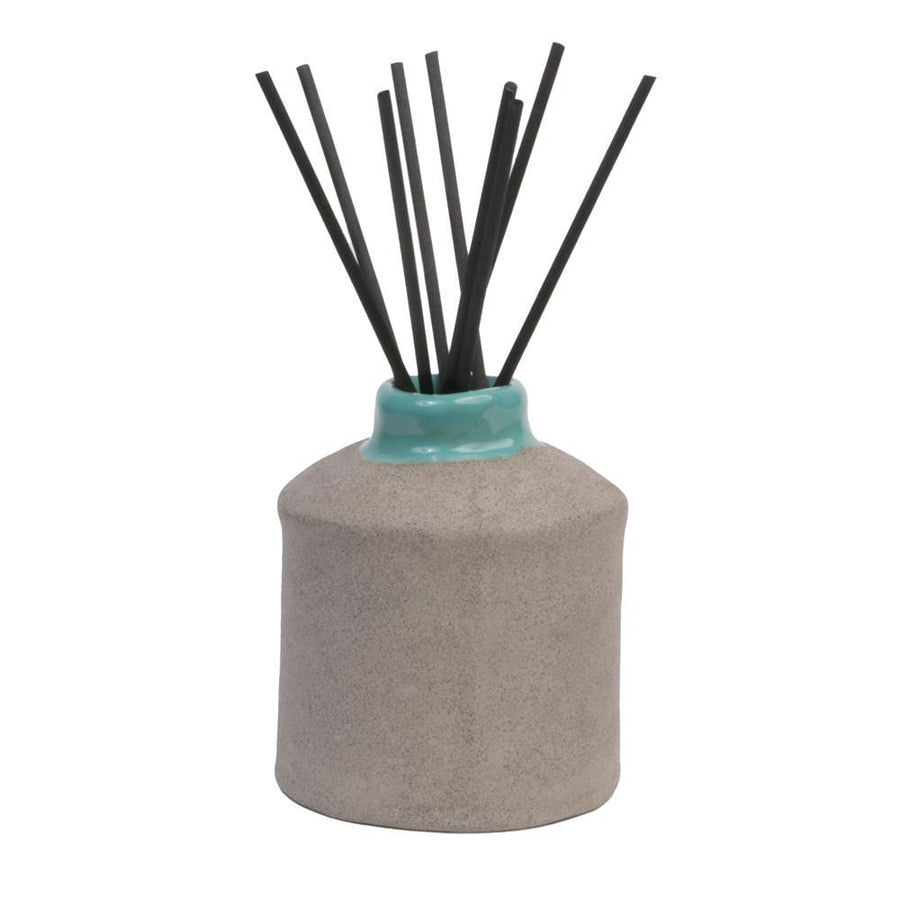 Grey Clay Ceramic Diffuser - Aqua/Saltwater