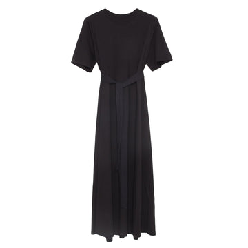 Tee Shirt Swing Dress Black