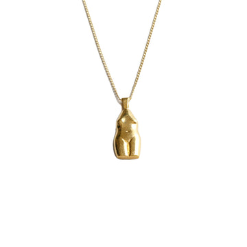 Woman Vase Necklace 14K GP Pendant GFilled Chain