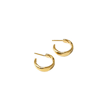 Yara Large Organic Hoops 14K GP