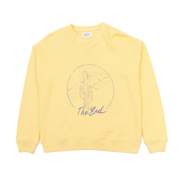 Sweatshirt Molleton Batiste Yellow