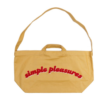Newspaper Bag in Coated Canva Yellow OS