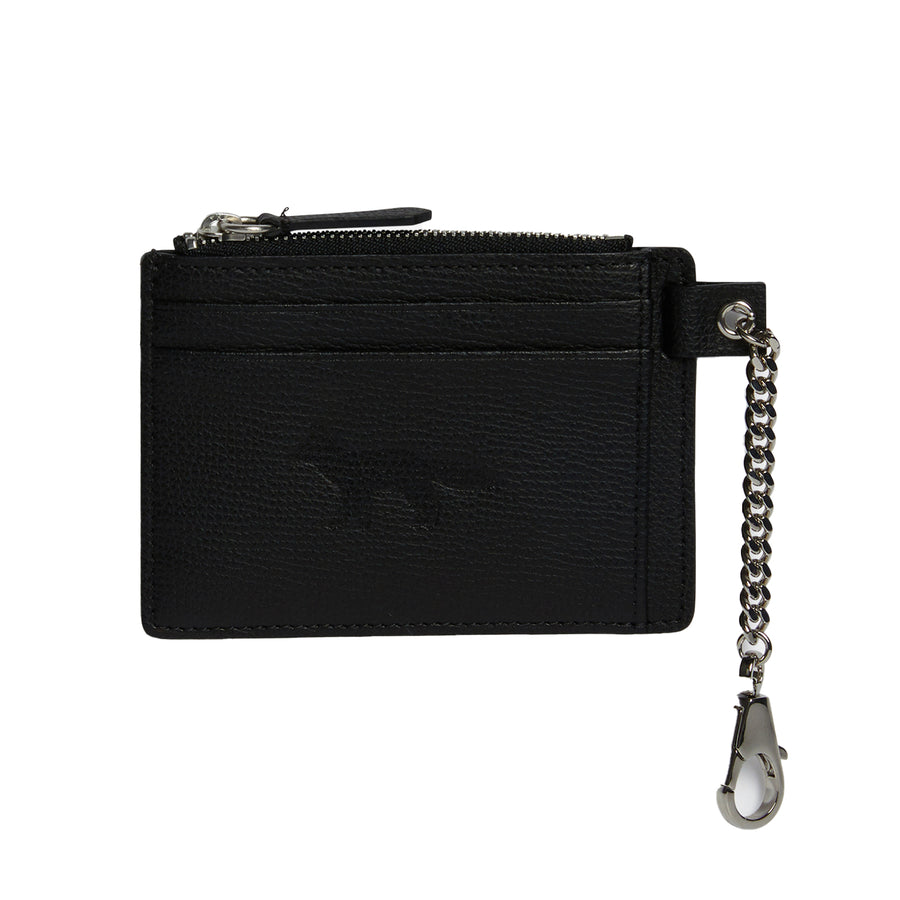 Zipped Card Holder Black U