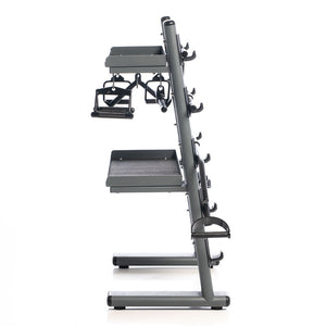 Black Chrome Cable Attachments Bar and Accessory Rack with Attachments