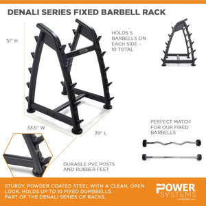 Denali Series Fixed Barbell Rack