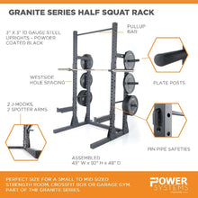 Load image into Gallery viewer, Granite Series Half Squat Rack