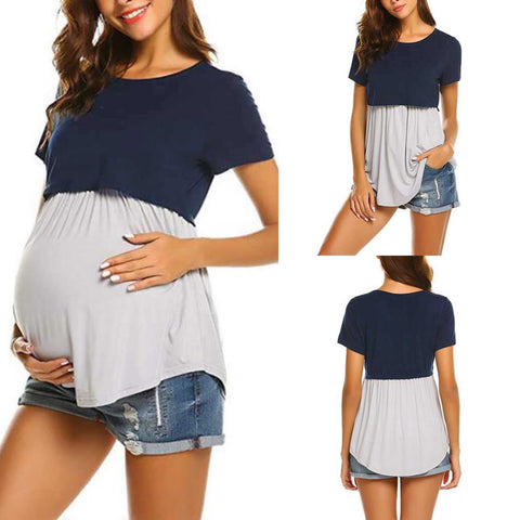 Lift Up Colorblock Maternity Nursing Top
