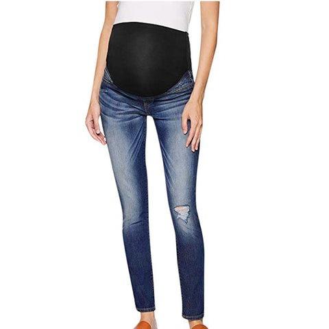 Over The Belly Distressed Maternity Jeans