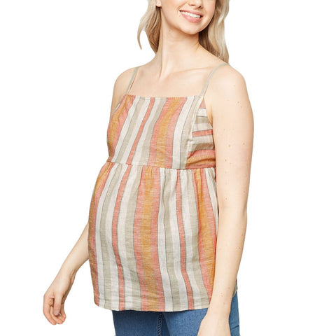 Striped Maternity Camisole Top