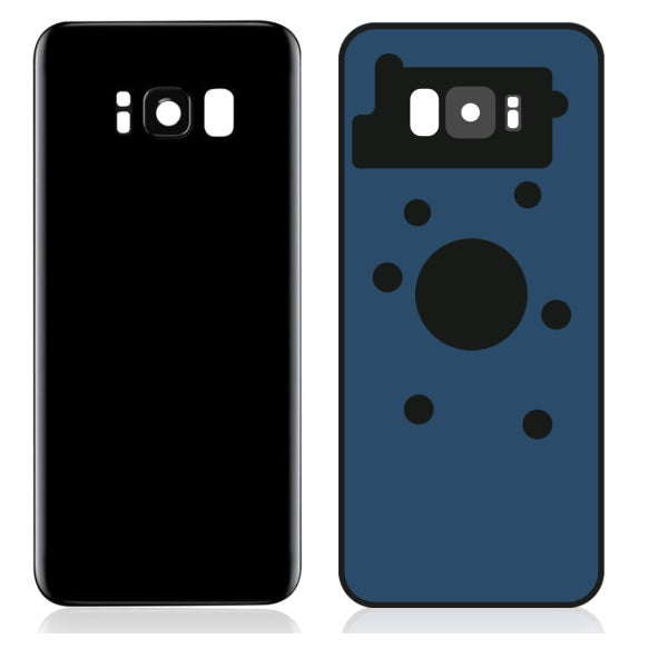 Samsung S8 Plus Back Cover Glass ( Black )